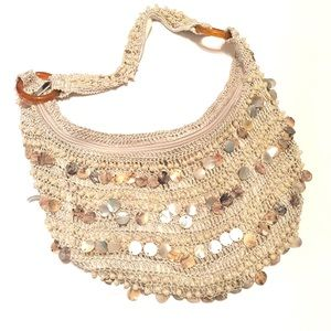 BOHO Purse with Mother of Pearl Shells